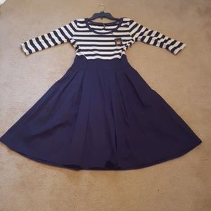 Miusol navy and white striped dress.